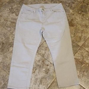 Michael Kors Women's Capri Jeans Size 10 Gray